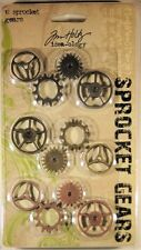 Tim Holtz Idea-ology SPROCKET GEARS  12 EMBELLISHMENTS