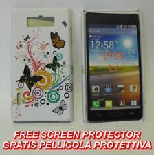 Pellicola+custodia BACK COVER rigida CERCHI FARFALLE per LG Optimus L7 P700 (H9)