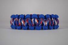 550 Paracord Survival Bracelet Cobra Blue/Americana Camping Military Tactical