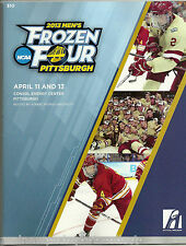 2013 FROZEN FOUR NCAA MEN'S HOCKEY PROGRAM PITTSBURGH YALE QUINNIPIAC RARE