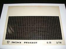 Ersatzteil Mikrofilm Planfilm Microfiche Peugeot 304 v. März 1978