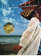 PUBLICITE ADVERTISING  1981   REVILLON  parfum TURBULENCES