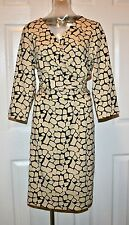 J. McLaughlin Brea Catalina Cloth Dress, Beige/Black, Large, NWT