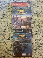 Socom Navy Seals 1 and  2 Playstation Tested PS2 Lot of 2 Games TESTED FREE S/H