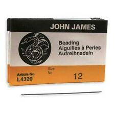 25 #12 John James English Beading Needles - Fine to Medium