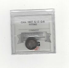 1887 Coin Mart  Graded Canadian, 10 Cent, **G-6 Pitting**