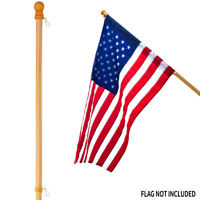"Anley 56"" Pine Wooden House Flag Pole - for Sleeve House Flags (28""x 40"")"