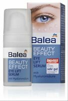 Balea Beauty Effect Eye-Lift Serum With Hyaluronic Acid for Daily Use 15ml