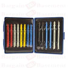 14pc Jigsaw Blade Set T GAMBO BOSCH Fit Puzzle Metallo Plastica Legno Lame in caso