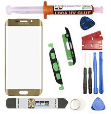 Samsung Galaxy S7 Edge OEM G935 Gold Glass Lens Screen Replacement Loca UV Glue