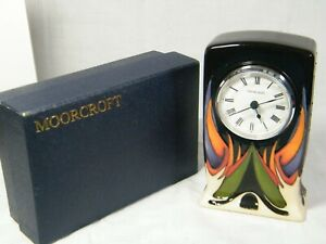 """A Moorcroft Clock """" Paradise Found """" from the 2015 Collection by Vickey Lovatt ."""