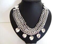 Heart Stone Statement Beauty Costume Necklaces & Pendants