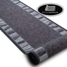 Modernen Preiswert Antirutsch Läufer 'LINEA' gummiert grau Breite 67-80-100 cm