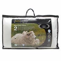 MiniJumbuk 2- Pack Wattle Standard Pillow 100% Australian Made