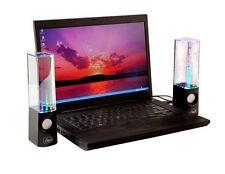 USB Powered Dancing Water Speakers BLACK OR WHITE BASES