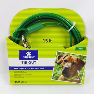 15 Foot Tie Out for dogs up to 100 Lbs top paw