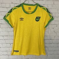 Umbro Official Jamaica Football Federation Soccer Jersey Womens M Yellow NWT