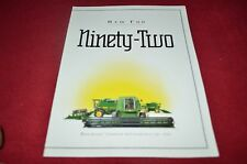 John Deere 9500 9600 Combine New For 1992 Dealer's Brochure YABE