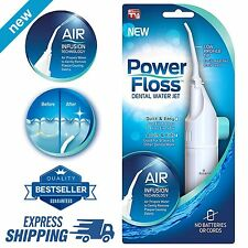 Oral Irrigator Dental Water Jet Power Floss Air Powered Flosser Teeth Cleaner