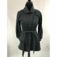 Athleta Grey Classic Pea Coat Women's Size M Medium Gray