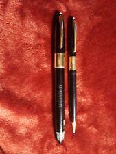 UNUSED Sheaffer SNORKEL  Fountain Pen Pencil Set 14K Bands & CLIPS 14K Fine Nib