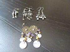 Funky Dangle Earrings* *4 x Pair Of