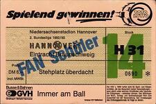 Ticket II. BL 92/93 Hannover 96 - Eintracht Braunschweig