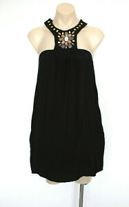 NATASHA THE LABEL Short Cocktail Party Dress w Pockets Beaded Size S (6 UK)