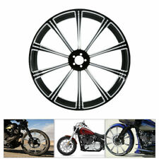 "23"" x 3.5"" CNC BLK Front Wheel Rim Dual Disc For Bagger Harley Touring 2008-2020"