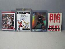 Dwyane Wade 4 card bundle UD, TOPPS, FLEER 03'-07' Rare Auto, Rookie, Limited Ed