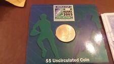 Australian $5 dollar rugby world cup 2003 coin