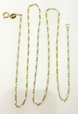 """14k Yellow Gold 1.3mm Figaro Link Chain Necklace 18"""""""