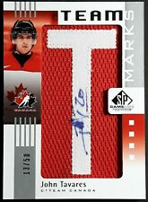 John Tavares 2011-12 Upper Deck SP Game Used Team Marks Autographed Patch 13/50