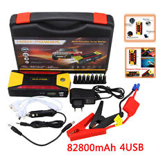 12V 82800mAh Car Jump Starter 4 USB Power Bank Pack Booster Battery Charger  SOS