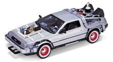 COCHE REGRESO AL FUTURO III DELOREAN BACK TO THE FUTURE WELLY REPLICA 1:24