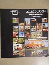 CATALOGUE AUTO : EXECUTIVE WOHNMOBILE EN ALLEMAND ANNEES 1970?