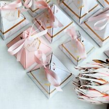 New Triangular Pyramid Marble Candy Box Wedding Favors And Gifts Boxes Chocolate