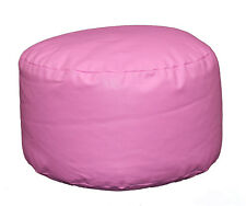 Pink Faux Leather Bean Bag Footstool Luxury Pink Bean Bag Faux Leather Pouffe