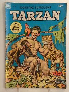 Dell TARZAN #8 (1949) The White Pygmies, Ape-English Dictionary, Moe Gollub