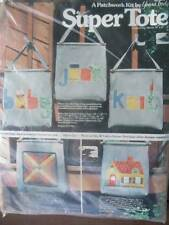 Vintage Yours Truly Patchwork Super Tote Kit Calico House 1977 Mint