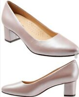 Trotters Kari Womens Blush Pink Pearlized Leather Pumps Size 9