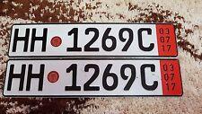 German License Plate HAMBURG HH 1268 C. Great condition