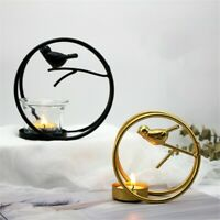 Nordic Bird Cage Iron Light Candle Holder Candlestick Table Lamp Indoor Decor