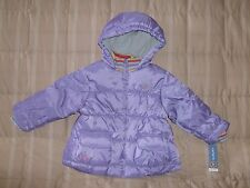 Carters NWT purple winter jacket w attached hood 3T...