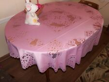 New Pink Battenberg lace design Tablecloth  70 round