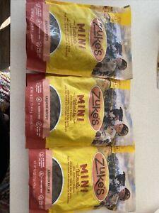 Lot Of 3 - Zuke's Mini Naturals Salmon Recipe 16 oz Bag Dog Treats - 10/2022
