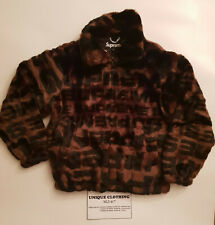 SUPREME FAUX FUR REPEATER BROWN SIZE S