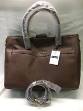 OUTAD Ladies Handbags Fashionable Tote Shoulder Bags Leather, Brown L004 C