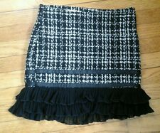 BEAUTIFUL COSTA BLANCA WOMAN'S SKIRT,  BLACK AND WHITE  SIZE 1