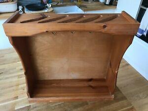 Le Creuset Wooden Saucepan Rack/Pan Stand - holds 5 Pans
